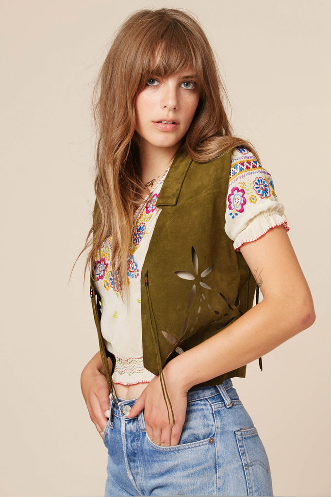 Kiss The Sky Suede Vest