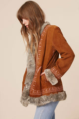 Lady Stardust Suede & Fur Coat