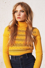 Roxy Turtleneck Sweater in Yellow