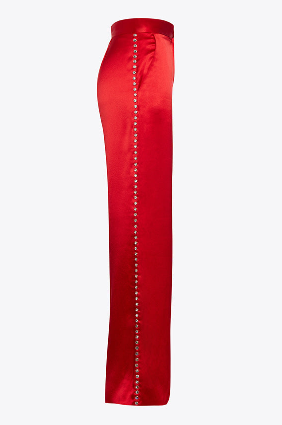 studded elton trouser red