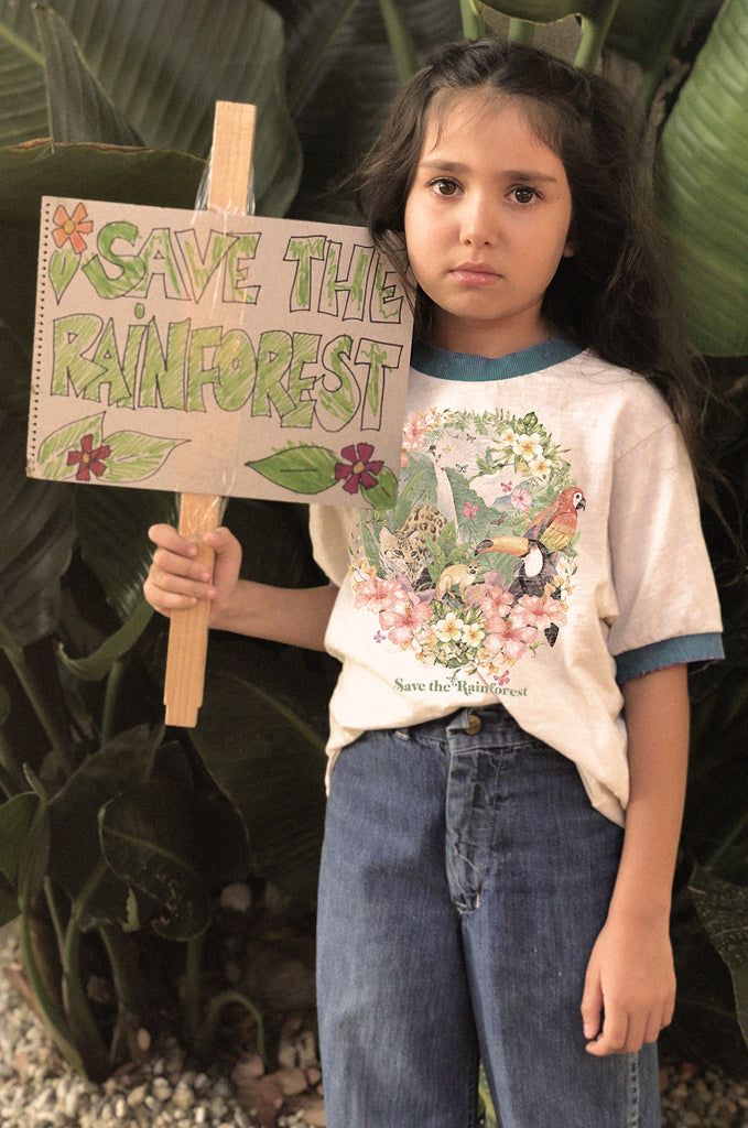 Save The Rainforest Ringer Tee