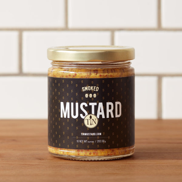 Tin Mustard - Smoked and Bourbon Barrel Finished - One Jar