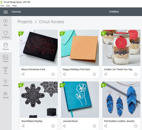 Cricut Design Space - Ready to Use Projects