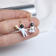 Load image into Gallery viewer, Astronaut Asymmetric Earrings