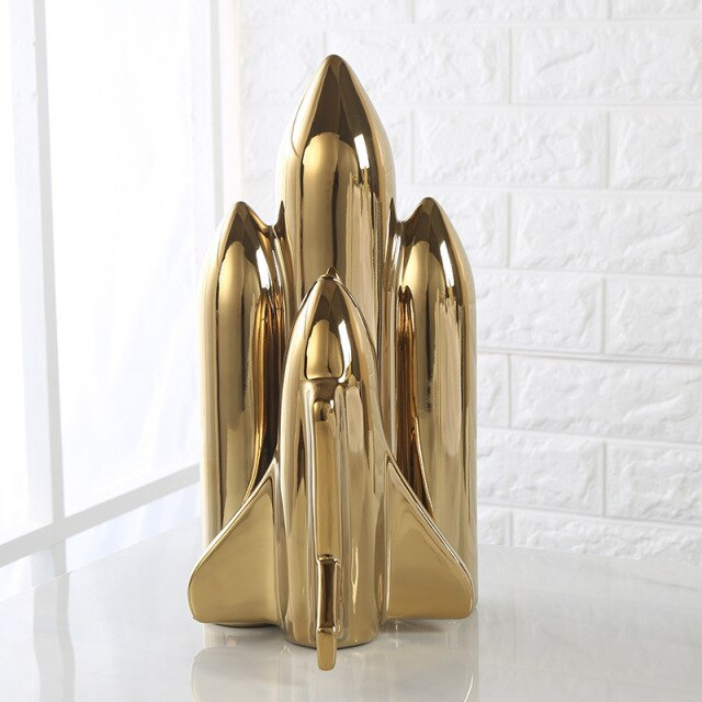 Ceramic Home Decor Rocket