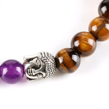 Load image into Gallery viewer, Tiger Eye Beads Buddha Bracelets 7 Chakra