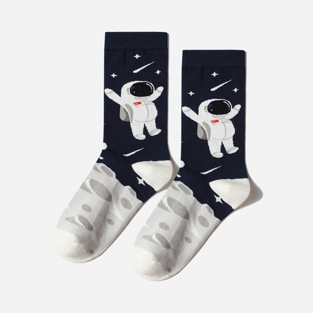 Astronaut And Planet Happy Socks