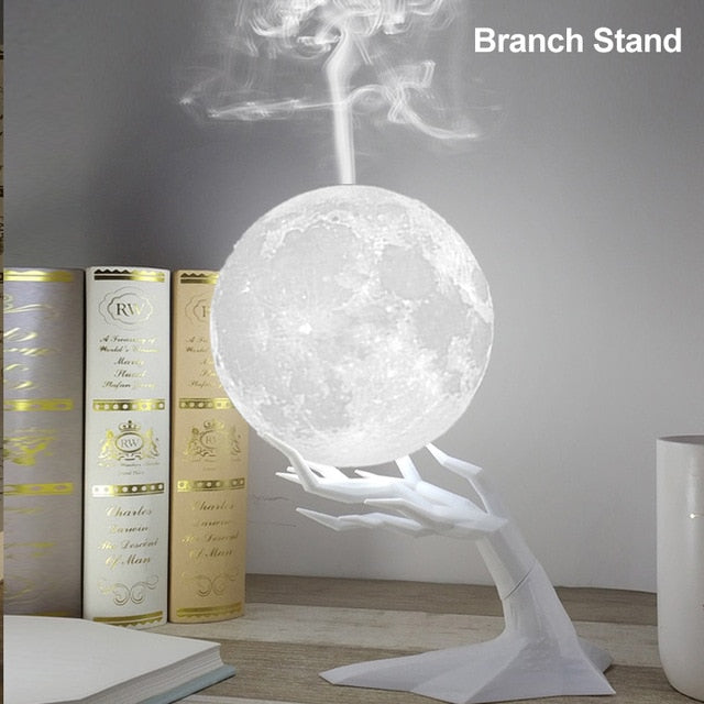 Moon Air Humidifier Diffuser USB with LED Night Lamp