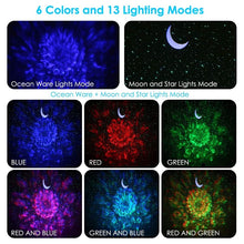 Load image into Gallery viewer, 3 in 1 LED Sky Projector Ocean Night Light