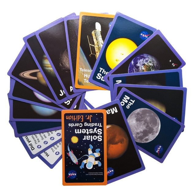 Space Solar System Learning Card Game