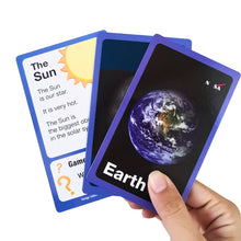 Load image into Gallery viewer, Space Solar System Learning Card Game