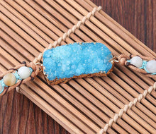 Load image into Gallery viewer, Natural Stone Druse Bracelet