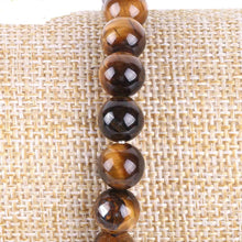 Load image into Gallery viewer, Natural Tiger Eye Lucky Gem Stone Tree of Life Bracelets