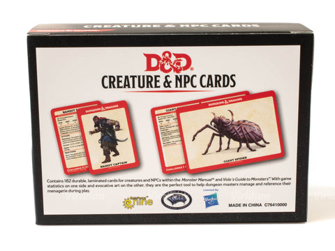 Monster Cards - Creature And NPC