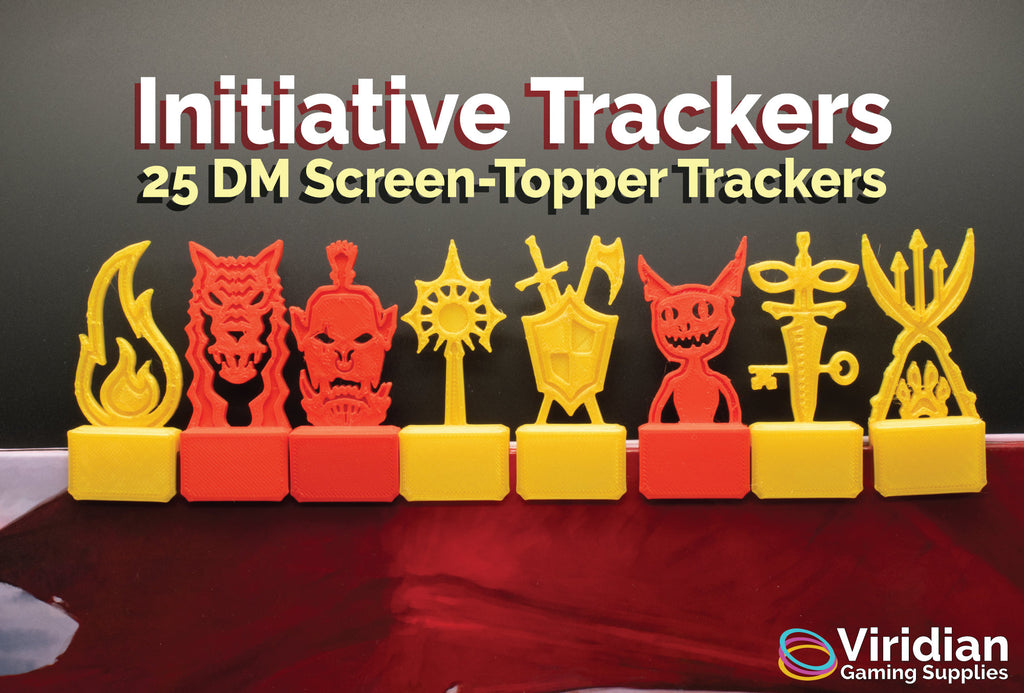 25 Initiative Trackers Dungeons and Dragons 5e (DnD), Pathfinder. Great gift for Dungeon Masters, fans of Critical Role