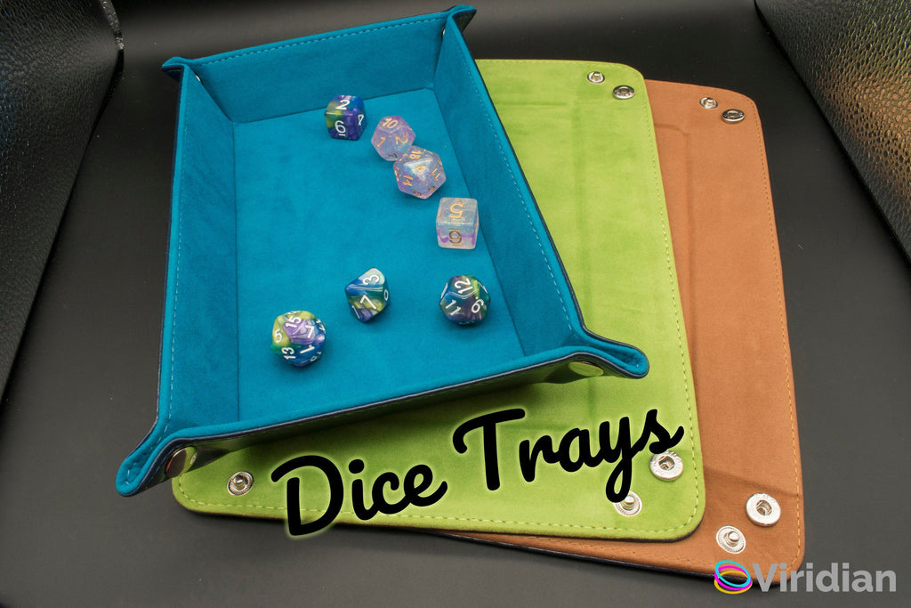 Dice Tray | Foldable Velvet & TPU Leather Rolling Mat |  DnD, RPG Games