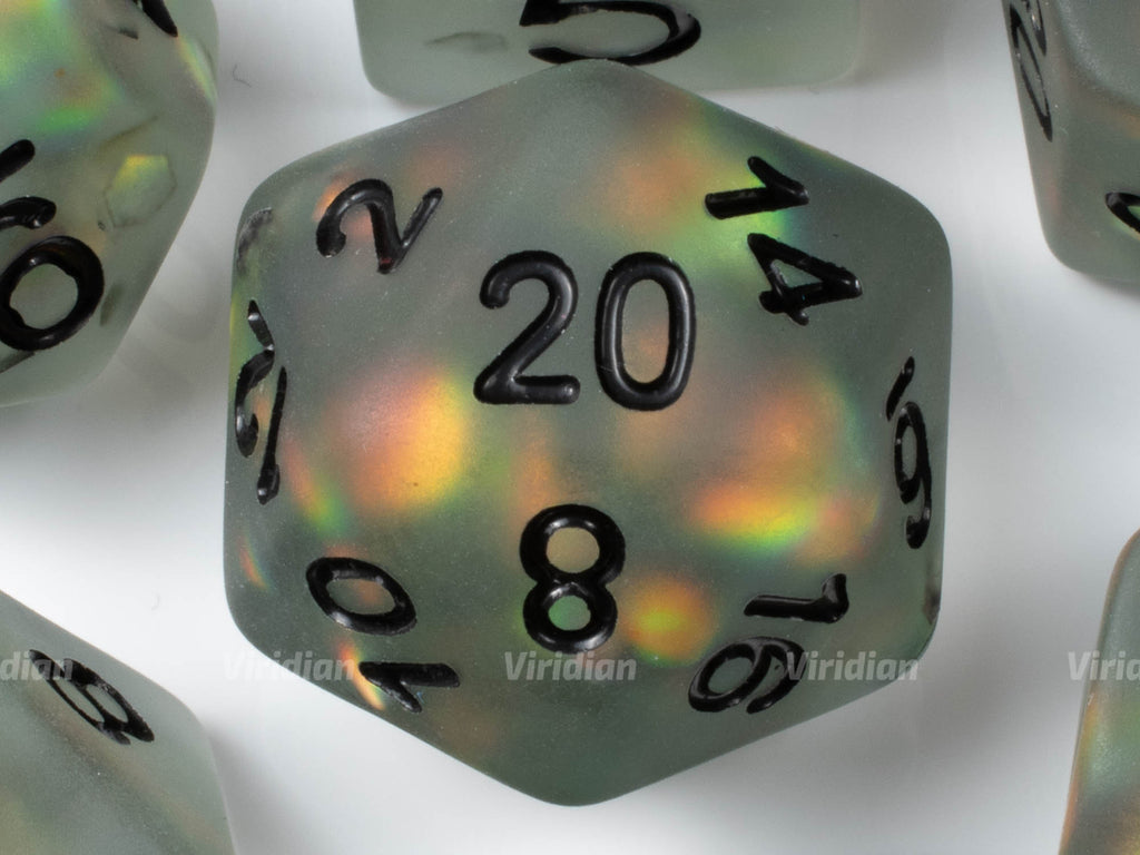 Hologram | Semi Opaque Resin Dice Set (7) | Dungeons and Dragons (DnD)