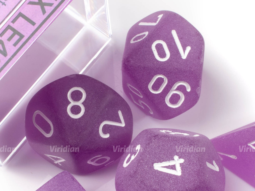 Frosted Purple & White | Chessex Dice Set (7)
