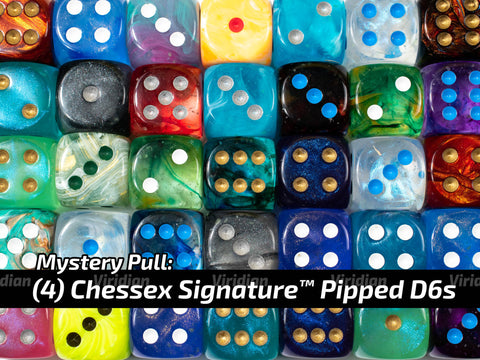 Mystery Pull | (4) Random Pipped D6s | Chessex Signature Dice