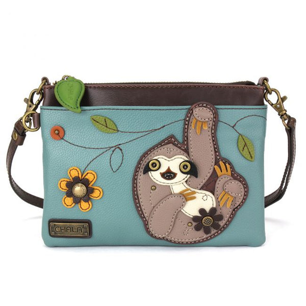 "Chala Sloth Mini Cross Body Bag (8"" x 6"")"