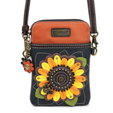 "Chala Sunflower Cellphone Crossbody Bag (5"" x 7.5"")"