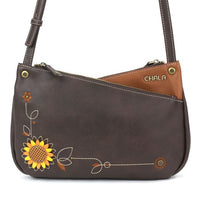 "Chala Sunflower Criss Crossbody Bag (12"" x 7.5"")"