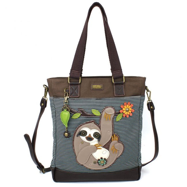 Chala Sloth Stripe Work Tote Bag
