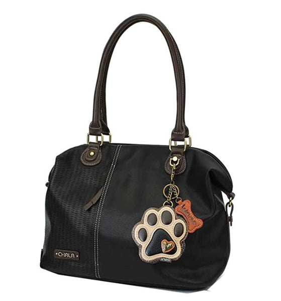 "Chala Paw Print Laser Cut Shoulder bag (18"" x 11.5"")"