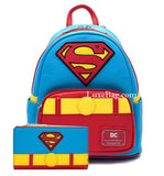 Loungefly DC Comics Superman Mini Backpack and Wallet Set