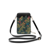 Frida Kahlo Cartoon Collection Cellphone Cross Body Bag with Wrislet (Black)