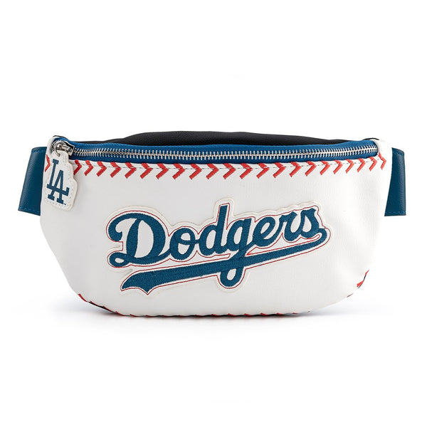 Loungefly MLB LA Dodgers Baseball Stitch Fanny Pack