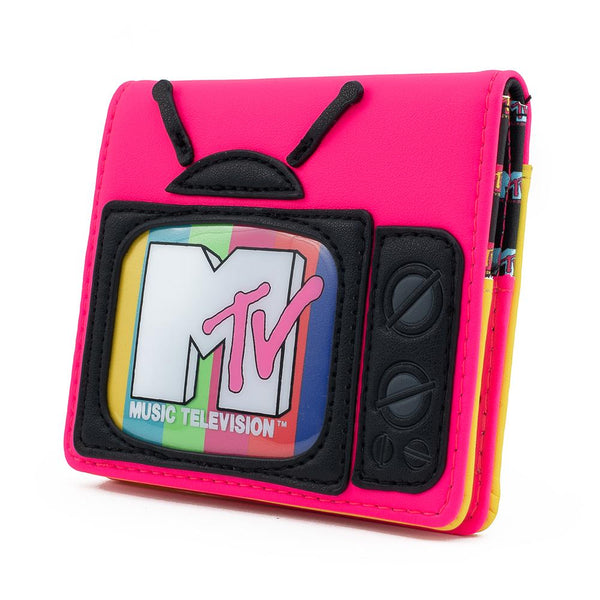 Loungefly MTV Television Faux Leather Bi-fold Wallet