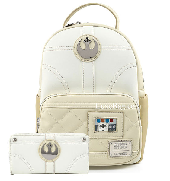 Loungefly Star Wars Leia Hoth Mini Backpack and Wallet Sett