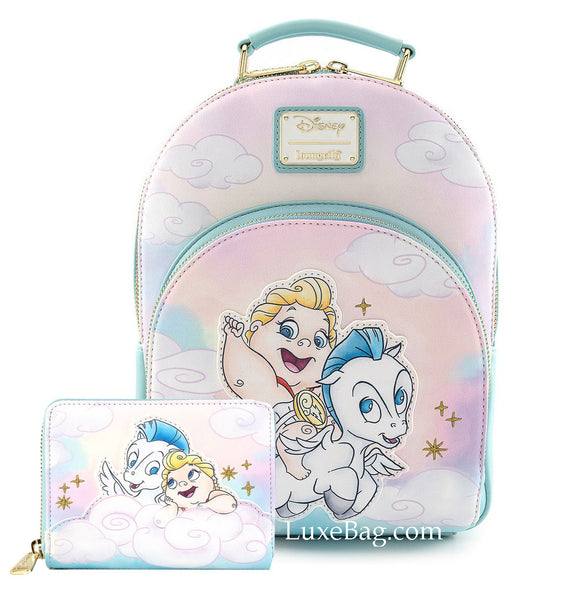 Loungefly Disney Baby Hercules Pegasus Mini Backpack and Wallet Set