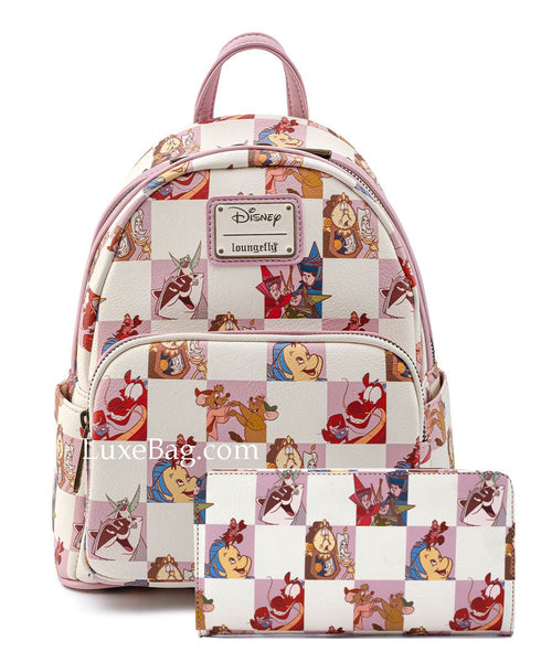 Loungefly Disney Princess Sidekicks Mini Backpack and Wallet Set