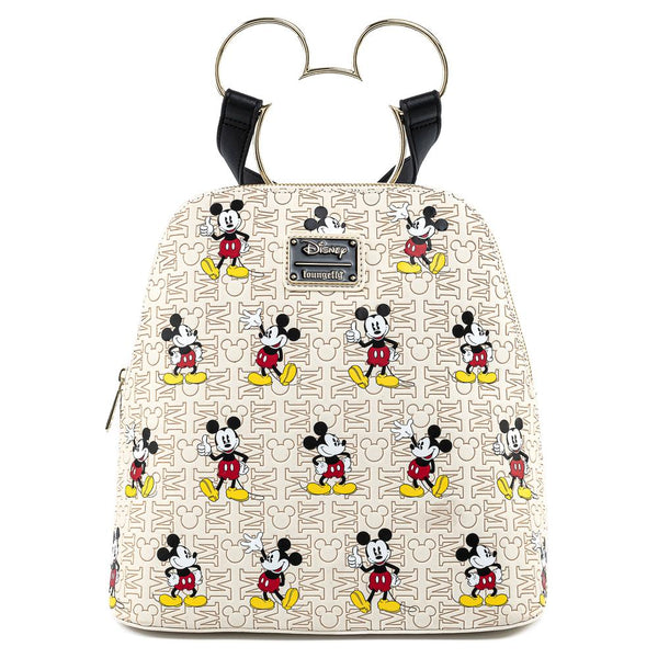 Loungefly Disney Mickey Head Hardware Faux Leather Mini Backpack