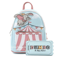 Loungefly Disney Dumbo Flying Circus Tent Mini Backpack and Wallet Set