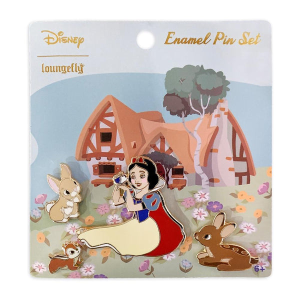 Loungefly Disney Snow White 4 Pieces Enamel Pin Set