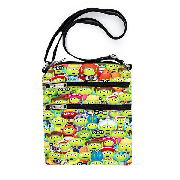 Loungefly Disney Pixar Toy Story Alien Outfits Nylon Passport Bag