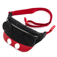 Loungefly Disney Mickey Mouse Quilted Fanny Pack and Cardholder Set