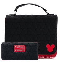 Loungefly Disney Mickey Mouse Quilted Oh Boy Crossbody Bag and Wallet Set