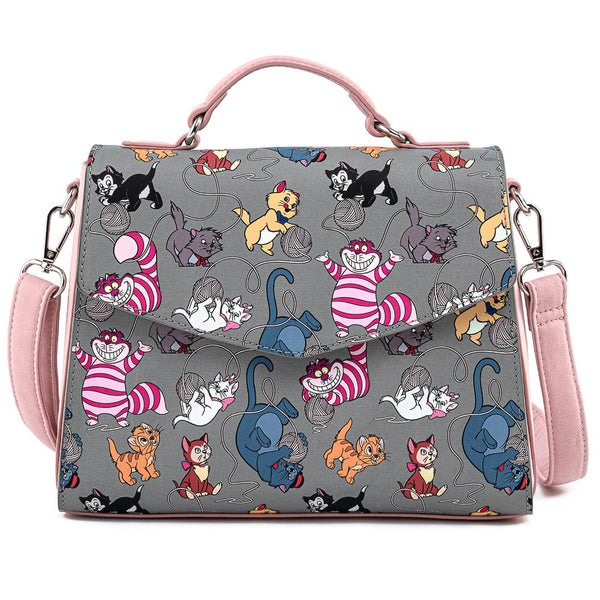 Loungefly Disney Cats Faux Leather Crossbody Bag