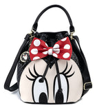 Loungefly Disney Minnie Mouse Bow Bucket Bag