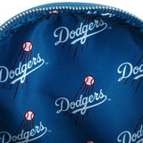 Loungefly MLB LA Dodgers Blue All Over Print Mini Backpack