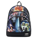 Loungefly Star Wars Original Trilogy Faux Leather Backpack