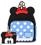 Loungefly Disney Positively Minnie Mouse Polka Dot Mini Backpack and Wallet Set
