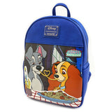 Loungefly Disney The Lady and The Tramp Faux Leather Mini Backpack