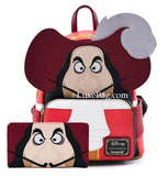 Loungefly Disney Peter Pan Captain Hook Mini Backpack and Wallet Set