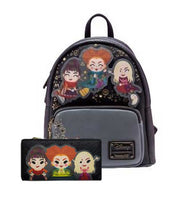 Loungefly Disney Hocus Pocus Chibi Mini Backpack and Wallet Set