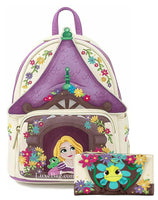 Loungefly Disney Rapunzel Tangled Tower Mini Backpack and Wallet Set